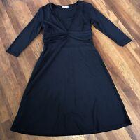 LOFT womens Size M ?? Black A-line Dress