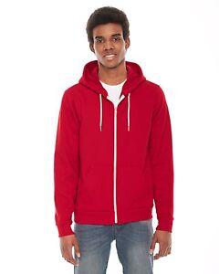 American Apparel - Zip Hoodie UNISEX Flex Fleece Hooded Sweatshirt XS-2XL, F497