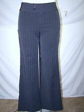 A. Byer Gray White Pinstriped Career Pants Juniors Size 7 Medium