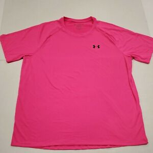 NWOT Under Armour Heatgear The Tech Tee Pink Active T-Shirt XXL New Without Tags