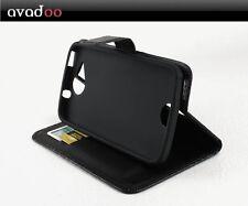avadoo® Acer Liquid Jade Plus Flip Case Schutz Hülle Tasche Magnet Schwarz