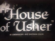 House of Usher 1960 16mm B&W Trailer Vincent Price Roger Corman Edgar Allen Poe