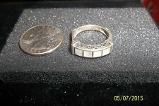 Designer Filigree Scroll Sterling 925 Ring 8 * sweetheart mop inlay