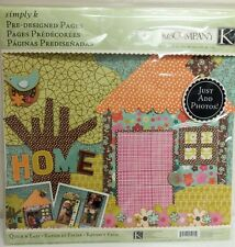 New K&Company Simply K Pre-Designed Scrapbook Pages: Home 12x12 Photo Crafts