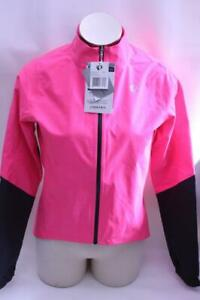 New Pearl Izumi Womens Elite WXB Jacket Cycling Bike Medium Neon Pink Waterproof
