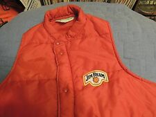Rare Red Jim Beam Sewn Logo Insulated Sleeveless Vest / Jacket Adult Large NM