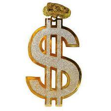 géant Dollar SIGNE Gangster collier Hip Hop espèces argent Proxénète rappeur