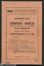 h036 Romania WW2 Judaica Jewish * Expropriation laws Jews property * HOLOCAUST