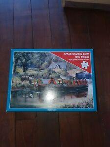 Waterways barge canal nostalgic  1000 piece Jigsaw Puzzle  used  VGC