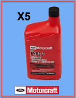 5 Quarts Type F Automatic Trans. & Power Steering Fluid ATF FORD OEM# XT1QF