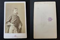 Le Jeune, Paris, Léopold de Hohenzollern-Sigmaringen Vintage albumen print CDV.