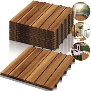 Holzfliesen Terrassenfliesen Fliesen Platten Klickfliese Mosaik 11 Stück