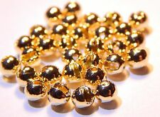 25 Gold Slotted Tungsten Fly Tying Beads (Size 4.0 mm)