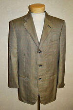 Ermenegildo Zegna 40 Su Misura 3Btn Blk/Gold Windsor Plaid Silk/Wool Sport Coat