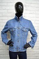 Giacca Blu Jeans GAS Donna Taglia Size XL Jacket Woman Denim Bottone