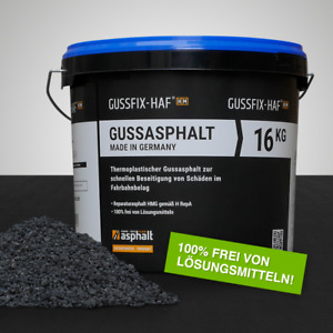 Reparaturasphalt Asphaltmischgut Gussasphalt 16kg Körnung: 0-3 mm GUSSFIX-HAF