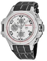 Snyper Men's Iron Clad Chronograph Leather Strap Swiss Automatic Watch 50.000.00