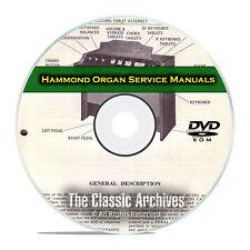32 Service & Repair Manuals, Hammond Organ, Restoration, Guide Books DVD E41