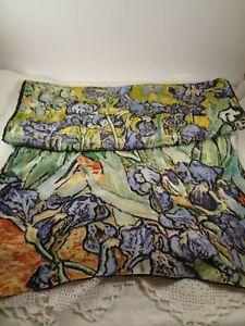 Oblong SILK SCARF Vincent Van Gogh IRISES Artwork