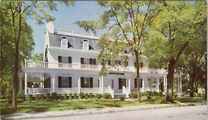 Vintage chrome postcard, The Crane Inn, main street, Dalton, Mass