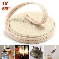 4.5M Rouleau Mèche plate coton pour lampe à pétrole Lanterne Oil Lamp Wick 15mm