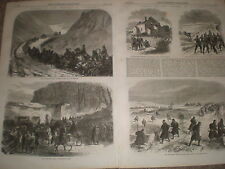Pursuit of the Fenians in Tipperary Ireland 1867 old prints ref Y4