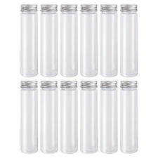 110ml Flat-bottomed Plastic Clear Test Tubes with Screw Caps Lotion Containers