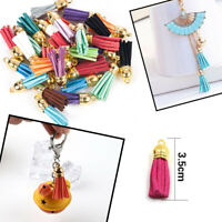 Lots 30Pcs Suede Leather Tassel For Keychain Jewelry DIY Pendant Charms Findings