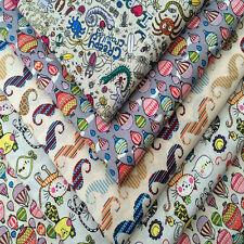 Childrens Prints 100% Cotton Fabric Fat Quarter Bundle 4 Craft,Patchwork