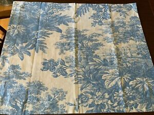 Pottery Barn Sham Toile Blue & White French Country Linen Cotton Standard