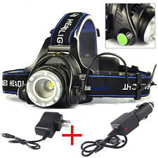 ZOOMable 5000LM CREE XM-L XML T6 LED 18650 Headlamp Headlight Lamp+2PCS Chargers