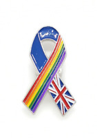 2020 Limited NHS Rainbow and Union Jack Ribbon Enamel Pin Badge Brooch Gift