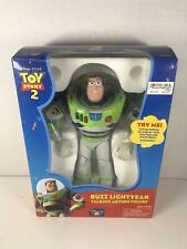 VERY RARE Thinkway Talking Buzz Lightyear TOY STORY 2 Action Figure 8 Inch WORKS
