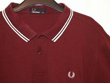 """Da Uomo FRED PERRY """"Slim Fit"""" Twin Tipped Polo T-shirt M3600 XXL"""
