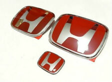 3Pcs JDM Red H Front+Rear+Steering wheel Emblems 2012-16 HONDA Civic Coupe 2Door