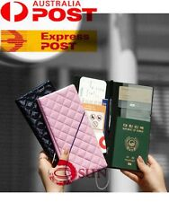 Travel Wallet Long Passport Holder Ticket Organizer Case Cover Pouch Leather