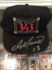 DAN MARINO MIAMI DOLPHINS SIGNED ALL TIME TOUCHDOWN PASS LEADER CAP JSA MARINO