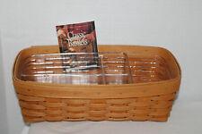 2001 Longaberger Envelope Basket, Two Protectors, Card