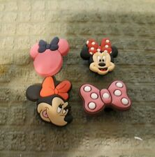 Lot of 4 Minnie Mouse shoe charms for Crocs shoes. Other uses Craft, Scrapbook