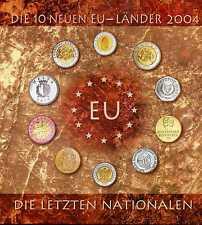 Die 10 Neuen EU - Länder 2004 die letzten Nationalen Kursmünzensätze KMS KI3302