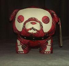 "RARE Skelanimals MAXX bulldog dog puppy plush 6"" in. Red Plaid NEW NWT Toynami"