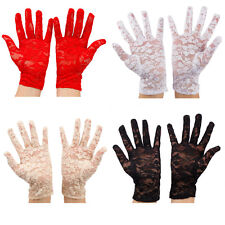 """SEXY PAIR OF LACE GLOVES, FASHION, WEDDING, PROM, EVENING, THEATRE, COSTUME,8"""""""