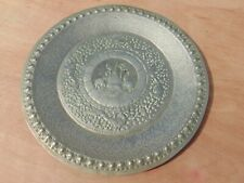 VINTAGE ANTIQUE LOW GRADE SILVER REPOUSSE HAND HAMMERED PLATE INDIAN ELEPHANT