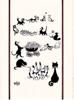 TORCHONS & BOUCHONS DUBOUT, MULTI-CHATS (CATS) FRENCH PRINTED KITCHEN TOWEL