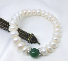 Genuine Cultured Freshwater Pearl Bracelet 9-10mm Real Pearl Bracelet