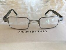 Jhane Barnes Quotient Silver Rectangular Eyeglass Frames 44-21-140 Made in Italy