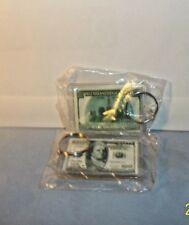 Benjamin Franklin $100 Bill Key Chain