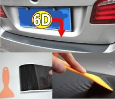 6D Carbon Fiber Vinyl Decal Car Luggage Trunk Sill Black Protect Sticker MSS J