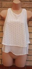 NEW LOOK BOHEMIAN FLORAL LACE RUFFLE FRILL CAMI  T SHIRT TUNIC TOP BLOUSE 10 S