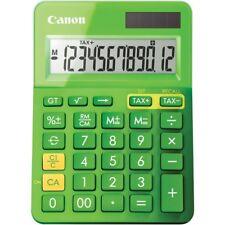 Canon 12 Digit Solar Plus Battery Green Desktop Calculator Large Angled Display